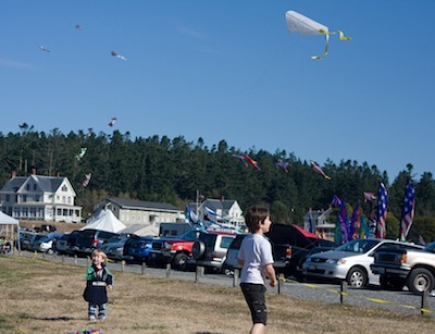 Ben and Nate Flying Kites
