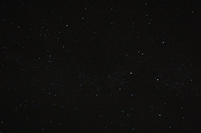 Looking up into a dark sky, 28mm lens