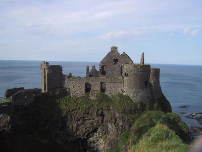 Dunluce Castle on the north coast of NI