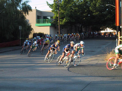 Turn 2 in the ballard crit. Pro-1-2 race. I'm behind the camera, not in the race.