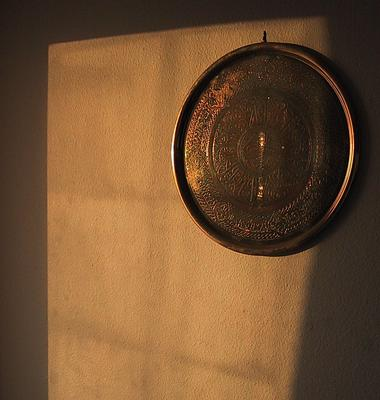 Turkish plate, in reflected morning sunlight - meduim