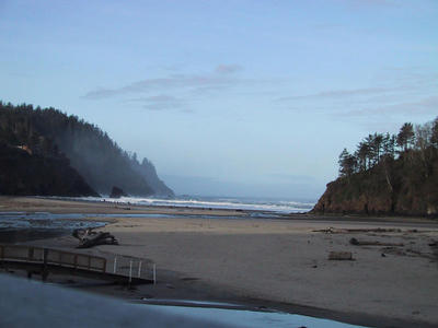 Neskowin, this time in the morning.