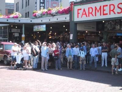 There's still something in the air at pike place market.